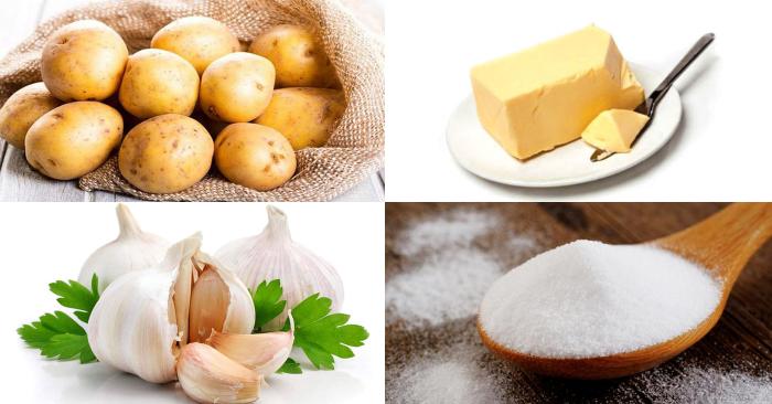 Cách làm khoai tây bơ tỏi; Khoai tây chiên bơ tỏi mật ong; Khoai tây nướng bơ tỏi; Khoai lang chiên bơ tỏi; Cách làm khoai tây nướng bỏ lò.