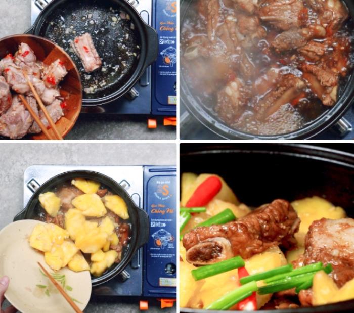 Cách làm sườn kho thơm chua ngọt; làm sườn rim; Cốt lết rim nước cốt dừa; Cách làm sườn rang nước mắm; Sườn kho nước cốt dừa.