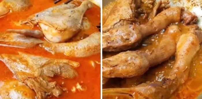 Món vịt phá lấu thành phẩm có hương vị thơm ngon đặc trưng. Thịt vịt mềm, ngấm gia vị và có vị ngọt, béo ăn rất lạ miệng.