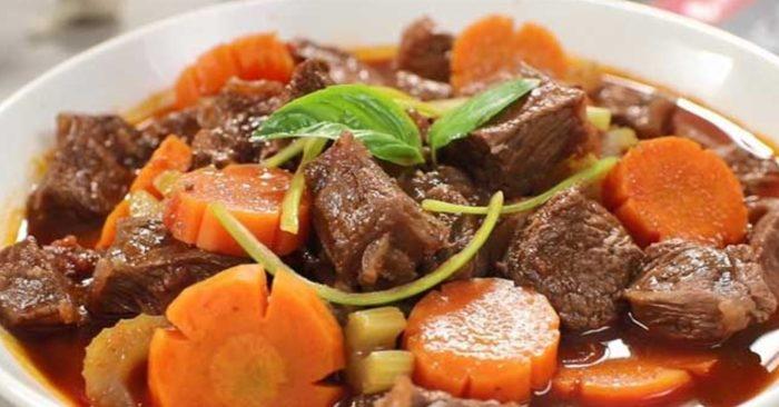 Bò hầm, ít béo, tốt cho sức khỏ, giảm cân, bổ dưỡng, phục hồi sức khỏe, đầy đủ dinh dưỡng, bổ máu