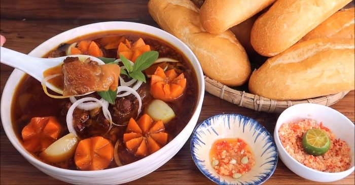 gân bò hầm nước dừa, ăn gì đây, danh sách, ít béo, tốt cho sức khỏe, hay nhất, các món, sách.