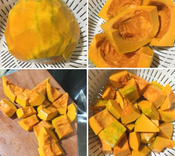 Canh bí đỏ đậu xanh; Cách nấu canh bí đỏ đậu phộng thơm ngon bổ dưỡng; Canh bí đỏ đậu phộng; Nấu canh bí đỏ thịt bằm; Giò heo hầm đậu phộng;