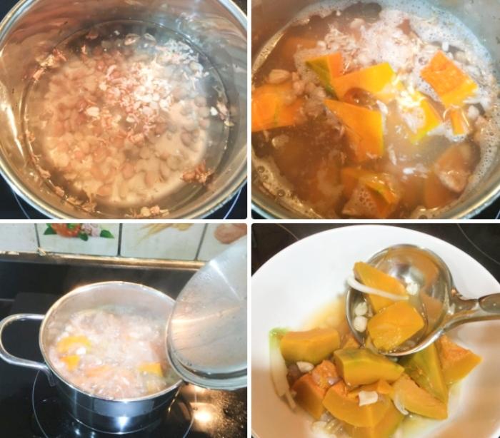Bí đỏ nấu canh; Cách nấu canh bí đỏ đậu phộng thơm ngon; Canh bí đỏ đậu phộng; Cách nấu canh bí đỏ với thịt; Cách hầm xương nhanh nhừ.