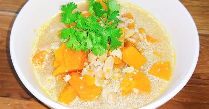 Cách nấu canh bí đỏ đậu phộng thơm ngon bổ dưỡng