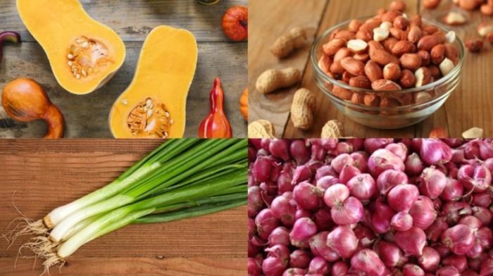 Canh bí đỏ đậu phộng, nước dừa; Cách nấu canh xương bí đỏ; Canh bí đỏ đậu phộng thịt băm; Cách om bí đỏ với đậu phộng; món ăn từ bí đỏ;