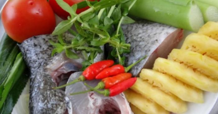 Nguyên liệu nấu canh chua dọc mùng; cach lam; nau an hay nhat; san bat nau nuong; làm thức ăn; hay nhất