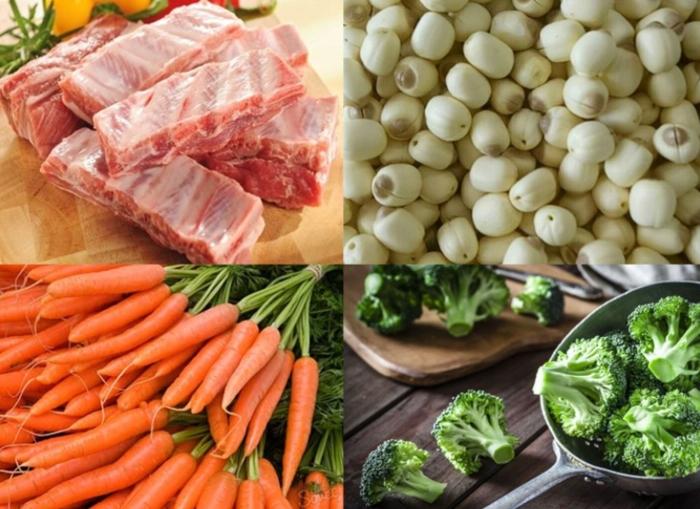 Cách nấu canh hạt sen hầm sườn non đầy dinh dưỡng; cách nấu canh hạt sen móng giò; cách nấu canh hạt sen chay; cách nấu canh hạt sen táo đỏ; cách nấu canh hạt sen tươi.