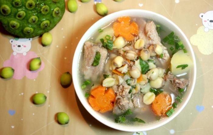 Cách nấu canh hạt sen hầm sườn non đầy dinh dưỡng; hạt sen hầm xương; hạt sen hầm gà; hạt sen hầm bao lâu thì chín; hạt sen hầm táo đỏ.