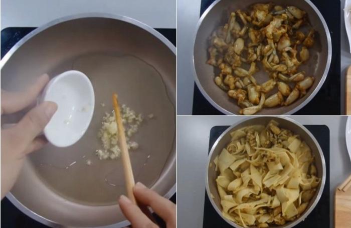 Cách nấu ếch xào măng chua; om chuối đậu miền Bắc; Ếch om chuối đậu miền trứng; Hình Anh ếch om chuối đậu; Cách nấu ếch om hoa chuối.