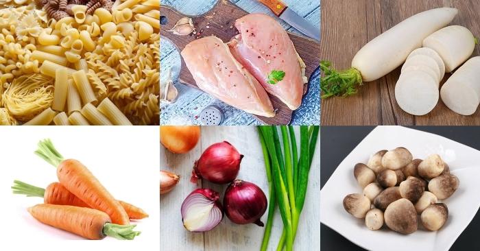 Cách nấu nui gà nấm rơm; Cách nấu nui hầm xương ngon; Cách nấu nui gà nấm; Cách nấu nui gà ngon; Nui nấu gà nấm.