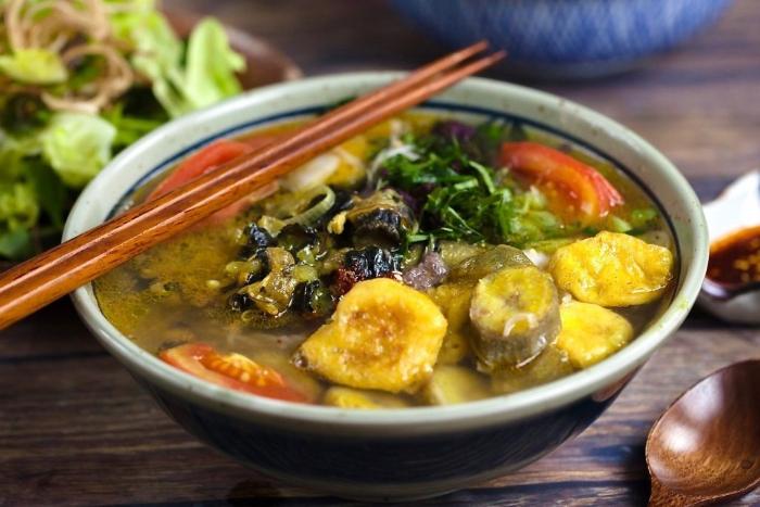 Cách nấu ốc xào chuối đậu; nấu ốc xào chuối; Cách nấu ốc bươu với chuối; Cách nấu ốc chuối đậu cà tím; ốc bươu xào chuối xanh, đậm hương vị bắc.