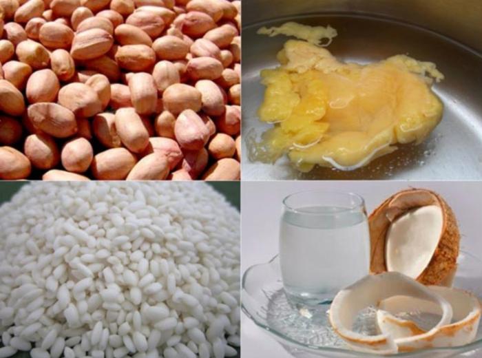Cách nấu xôi lạc dừa dẻo thơm; cách nấu xôi lạc cốt dừa ngon; cách làm xôi lạc dừa; cách nấu xôi đậu phộng nước cốt dừa; cách nấu xôi đậu phộng ngọt.