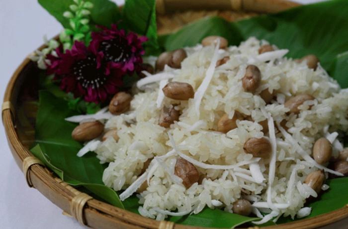 Xôi đậu xanh cốt dừa; xôi đậu xanh nước dừa; cách nấu xôi đậu phộng; ăn xôi lạc có béo không; nấu xôi lạc dừa bằng nồi cơm điện; cách nấu xôi đậu đen nước cốt dừa.