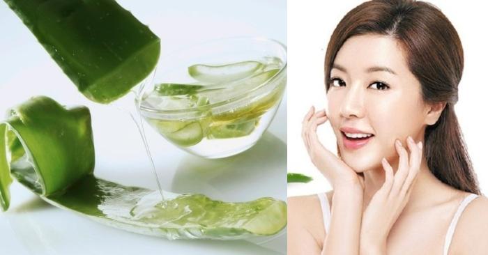 cách sử dụng gel nha đam trong làm đẹp hiệu quả nhất; tinh chất trong gel nah đam giúp trị mụn, cho làn da trắng hồng khỏe mạnh.