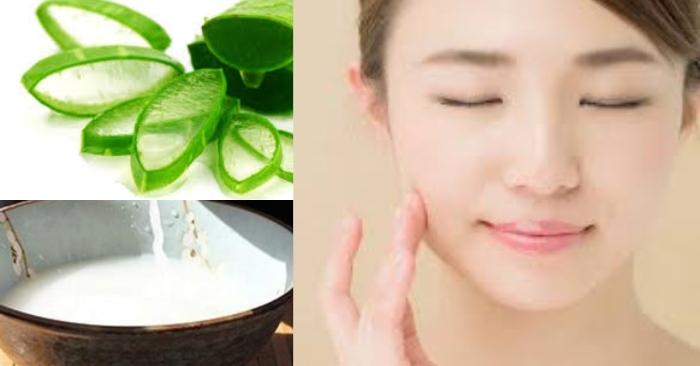 Làn da sáng hồng mịn màng nhờ các dưỡng chất trong mặt na nha đam nước vo gạo;