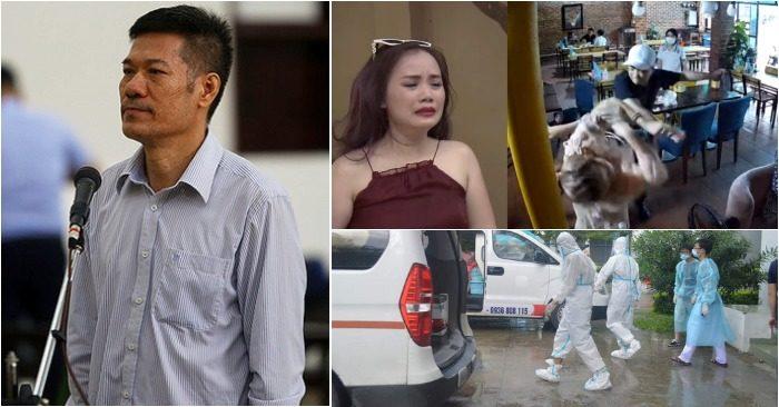 """Từ trái qua: Nguyễn Nhật Cảm - cựu giám đốc CDC Hà Nội tại tòa phúc thẩm; Hoàng Yến - cô Xuyến của """"Về nhà đi con"""" bị đánh; Thái Bình lo chống dịch (ảnh: Tuổi Trẻ/Facebook Đào Hoàng Yến/CDC Thái Bình)."""