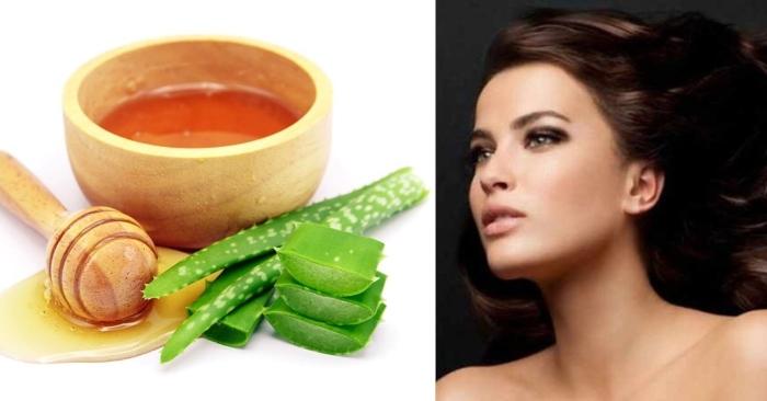 Mật ong có tính kháng khuẩn, chống oxy hóa giúp tóc óng ả, giảm xơ rối. Cách làm xịt dưỡng tóc từ nha đam;