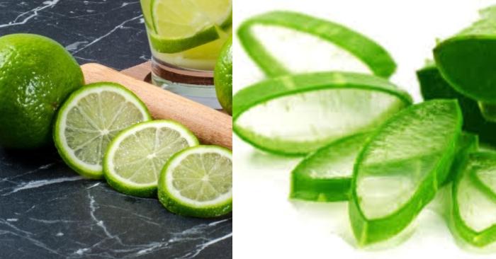 Chanh tươi có chứa acid giúp tẩy các tế bào chết và làm sạch gàu; cách duỗi tóc bằng nha đam;