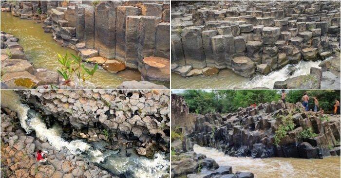 Suối đá kỳ lạ như 'ghềnh đá đĩa' ở Gia Lai