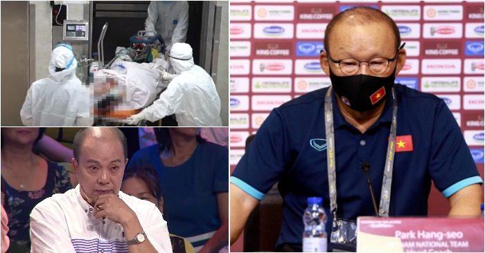 Từ trái qua: Cấp cứu cho BN nguy kịch; HLV Park đau buồn vì sự ra đi của học trò cũ; Diễn viên Đức Hải (ảnh chụp màn hình Zing/Thanh Niên/GD&TĐ).