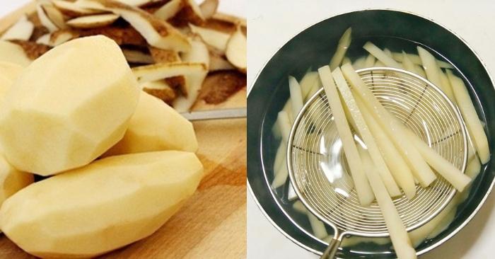 Khoai tây chiên nước mắm; loại sốt ăn với khoai tây chiên; Sốt phô mai chấm khoai tây chiên; Cách làm sốt phô mai kéo sợi; Khoai tây chiên chấm bơ đường.