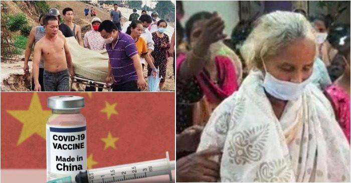 Từ trái qua: Đưa thi thể người mẹ nghèo cứu con về an táng; Cụ bà trở về sau 18 ngày được làm lễ chôn cất; Vắc- xin Trung Quốc - câu hỏi lớn với nhiều người (ảnh chụp màn hình báo Tiền Phong/NDTD/Tuổi Trẻ).