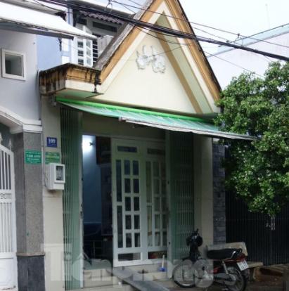 Căn nhà cấp 4 tại 109 đường số 3 phường Phước Bình, TP.Thủ Đức, TPHCM của ông Nguyễn Vũ Quốc Anh.