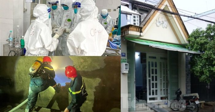 Từ trái qua: Hội chẩn một ca Covid-19 nặng; nơi ở của CEO đăng ký góp vốn 500.000 tỷ đồng; Cảnh sát đục tường ở gác lửng căn nhà cháy cứu nạn nhân rạng sáng 2/6