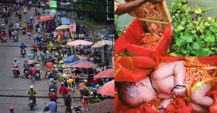 Chợ gần Công ty PouYuen Việt Nam; bé sơ sinh trong hộp gỗ trôi sông Hằng được cứu