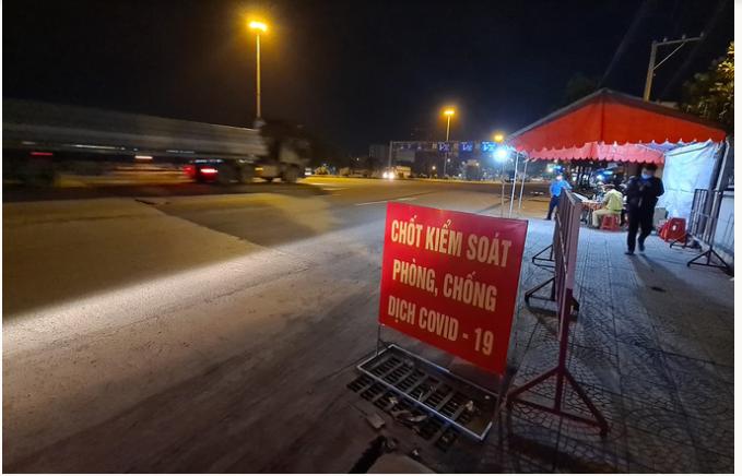 Đồng Nai lập chốt kiểm soát dịch trên quốc lộ 1 qua TP HCM (ảnh chụp màn hình).