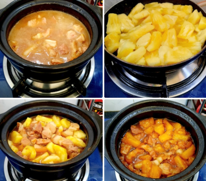 Cách nấu thịt heo kho thơm đơn giản; Nấu thịt kho; Ba chỉ kho tiêu; thịt lợn xào dứa; Dứa xào thịt; Cách chế biến thịt lợn; Món thịt heo;