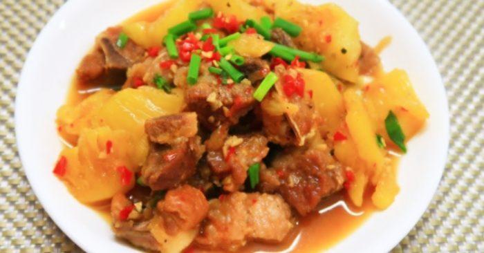Thịt heo kho dứa thơm ngon đậm đà cho bữa cơm gia đình
