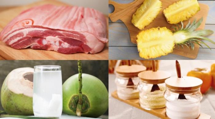 Hướng dẫn thịt kho thơm; Cách kho thịt thơm ngon; Thịt kho dứa afamily; Thịt lợn rim dứa; Sườn kho dứa; Canh thịt lợn nấu dứa;