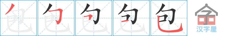 Học từ vựng tiếng Trung có trong sách Chuyển Pháp Luân - chữ bao; học tiếng trung; học tiếng trung; từ vựng tiếng trung; học tiếng trung cơ bản