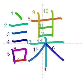 Học từ vựng tiếng Trung có trong sách Chuyển Pháp Luân - chữ mưu; học tiếng trung; học tiếng trung; từ vựng tiếng trung; học tiếng trung cơ bản