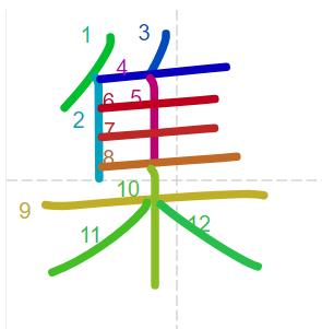 Học từ vựng tiếng Trung có trong sách Chuyển Pháp Luân - chữ tập; học tiếng trung; học tiếng trung; từ vựng tiếng trung; học tiếng trung cơ bản