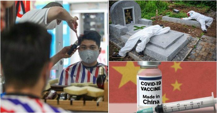 Quán cắt tóc ở Hà Nội có thể hoạt động từ tuần tới; Phu mộ Indonesia kiệt sức; Vắc xin Trung Quốc sắp tới Việt Nam (ảnh chụp màn hình báo Zing/Tuổi Trẻ).