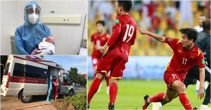 Tin vui khi mẹ con sản phụ đều âm tính được về nhà; Minh Vương và các đồng đội tiếp tục hành trình tìm vé dự World Cup