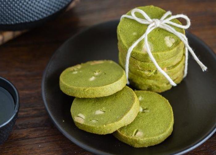 Bánh cookie trà xanh Givral, Cách làm bánh cookie, Bánh cookie,Trà xanh Highland, quy, hạnh nhân.