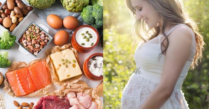 thịt, trứng, sữa, tôm, cua, cá cùng các nguồn đạm thực vật rất tốt cho mẹ và thai nhi