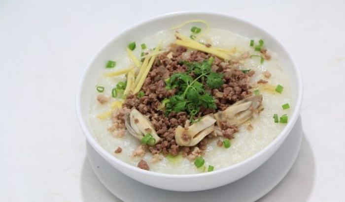 Cách nấu cháo thịt bằm, không bị hôi, bò băm cho bé, gân, ngon cho be, bí đỏ, rau củ, đãi bạn.