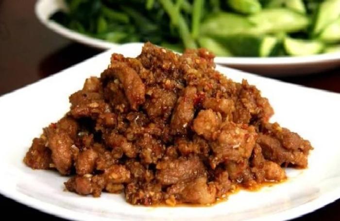 Mắm ruốc xào thịt ba rọi sả ớt, Cách làm thịt, sả, ăn với rau gì, canh, Huế, băm, để được bao lâu.