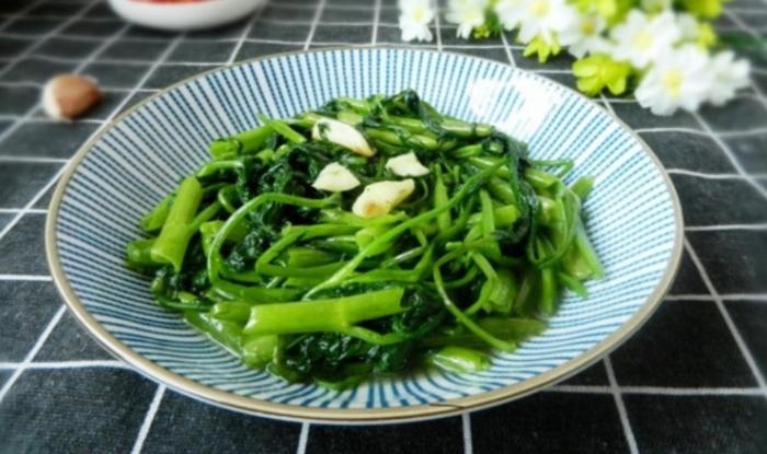Cách nấu các món ăn đơn giản rẻ tiền cho sinh viên, rau muống xào tỏi cách làm, gọi là gì, Hình anh.