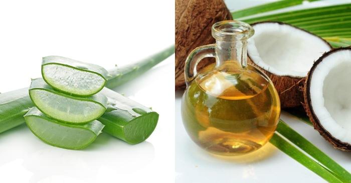 Cách làm mặt nạ nha đam dầu dừa đơn giản, ăn được không, mặt nạ, phần thịt, cải thiện, trị mụn.