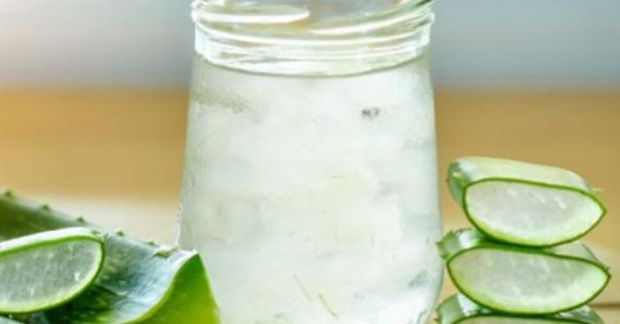 Cách làm nước nha đam không cần lá dứa; sử dụng; dạ dày; hỗ trợ; dụn; làm đẹp; nước ép; cách làm.