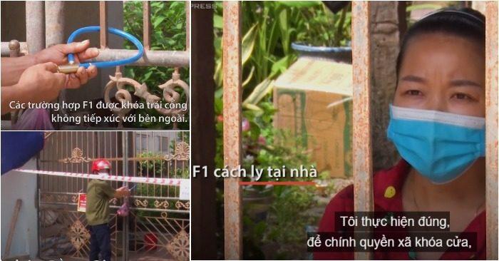 Khóa cửa cách ly F1 ở Bắc Giang