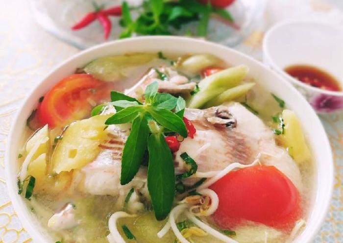 cá diêu hồng nấu canh chua miền Nam với 3 bước đơn giản, ăn kiêng nam, sach huong dan nau an.