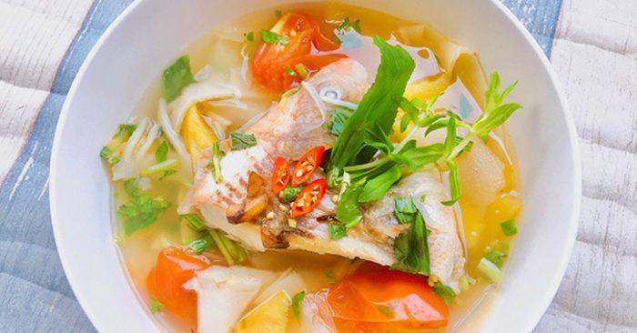 Cách nấu canh chua cá diêu hồng miền Nam với 3 bước đơn giản, các trang web dạy nấu ăn nổi tiếng.