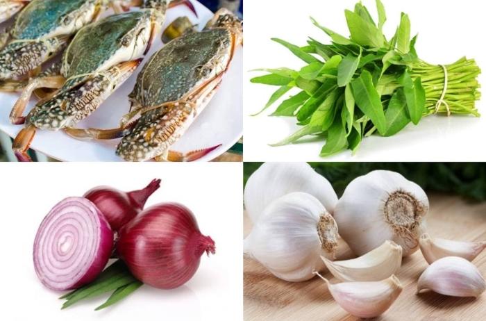 nấu canh ghẹ cho bé, với rau mồng tơi, rau cải, bí đỏ, gì ngon, mon an hang ngay, làm thức ăn.