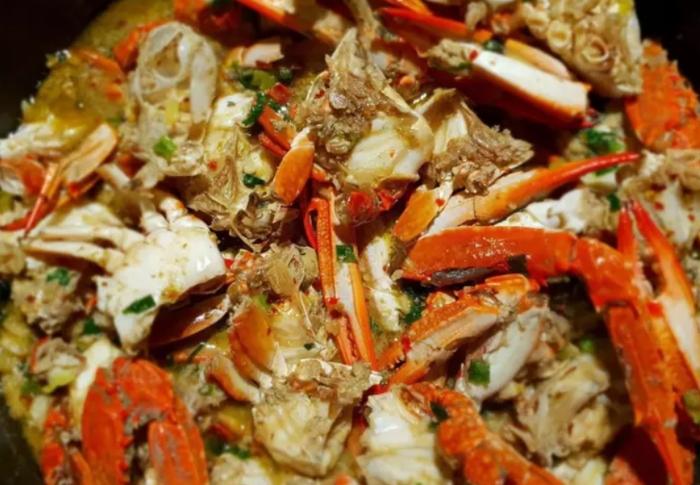 cua nấu rau muống, canh rạm, khoai sọ, canh cáy, cua bể, cua biển, hạt sen, có gạch không, bí kíp.